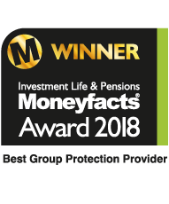 Moneyfacts Award 2018 - Best Group Protection Provider